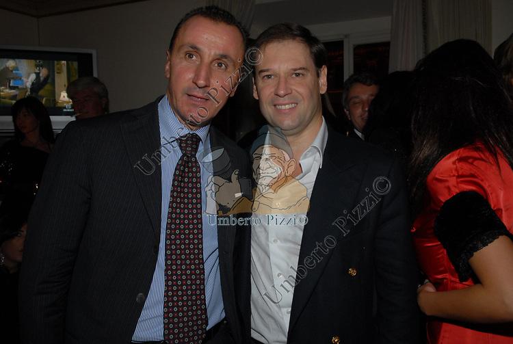 ANDREA MESCHINI CON GUGLIELMO GIOVANELLI <br /> PARTY DI PAOLO PAZZAGLIA<br /> PALAZZO FERRAJOLI ROMA 2009