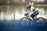 cx world champion Ceylin del Carmen Alvarado (NED/Alpecin-Fenix) on her way to winning the 2021 Flandriencross Hamme (BEL)<br /> <br /> ©kramon