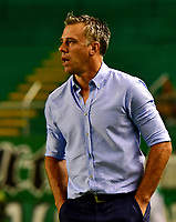 PALMIRA-COLOMBIA, 19-02-2019: Lucas Pusineri, técnico de Deportivo Cali durante partido de la fecha 5 entre Deportivo Cali y Unión Magdalena, por la Liga Aguila I 2019, jugado en el estadio Deportivo Cali (Palmaseca) en la ciudad de Palmira. / Lucas Pusineri, coach of Deportivo Cali during a match of the 5th date between Deportivo Cali and Union Magdalena, for the Liga Aguila I 2019, at the Deportivo Cali (Palmaseca) stadium in Palmira city. Photo: VizzorImage  / Nelson Ríos / Cont.