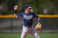 Tampa Bay Rays Jake Cronenworth (58) during a minor league Spring Training game against the Boston Red Sox on March 23, 2016 at Charlotte Sports Park in Port Charlotte, Florida.  (Mike Janes/Four Seam Images)
