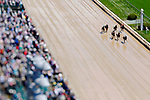 LOUISVILLE, KY - MAY 06: Paulassilverlining #2, ridden by Jose Ortiz, leads the field in the home stretch to win the Alysheba Stakes on Kentucky Derby Day at Churchill Downs on May 6, 2017 in Louisville, Kentucky. (Photo by Jon Durr/Eclipse Sportswire/Getty Images)