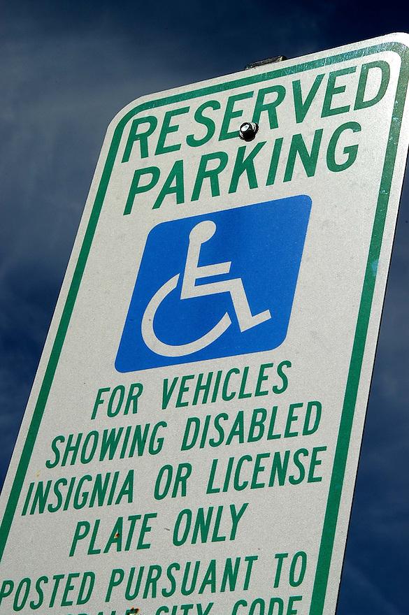 AJ Alexander - Reserved Parking sign for the handicap..Photo By AJ Alexander