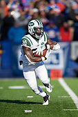 New York Jets running back Isaiah Crowell (20) rushes during an NFL football game against the Buffalo Bills, Sunday, December 9, 2018, in Orchard Park, N.Y.  (Mike Janes Photography)
