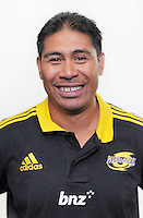 Alama Ieremia. Hurricanes Super 15 official headshots at Rugby League Park, Wellington, New Zealand on Sunday, 9 December 2012. Photo: Dave Lintott / lintottphoto.co.nz