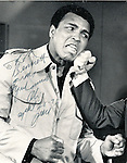 """Muhammad Ali Cassius and Marcellus Clay Jr American boxer and three time World Heavyweight Champion greatest heavyweight championship boxer of all time, 1960 Summer Olympics light heavyweight gold medal, Nicknamed """"The Greatest,"""" Muhammad Alie rivals Joe Frazier and George Foreman, Alie developed Parkinson's disease later in life,"""