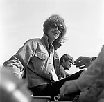Beatles 1967 George Harrison during filming of the Magical Mystery Tour has afternoon tea at the Atlantic Hotel in Newquay<br /> © Chris Walter