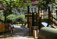St. Louis: Webster Groves Day Care Center--play structures. Photo '78.