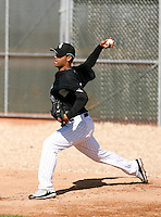 Jhonny Nunez  -  Chicago White Sox - 2009 spring training.Photo by:  Bill Mitchell/Four Seam Images