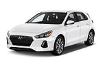 2018 Hyundai Elantra GT GT Auto 5 Door Hatchback angular front stock photos of front three quarter view