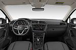 Stock photo of straight dashboard view of 2021 Volkswagen Tiguan Elegance 5 Door SUV Dashboard