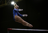 BARRANQUILLA - COLOMBIA, 23-07-2018: Maldonado A de Puerto Rico durante su participación en gimnasia mujeres modalidad barras asimétricas como parte de los Juegos Centroamericanos y del Caribe Barranquilla 2018. /  Maldonado A of Puerto Rico during his participation in gymnastics women's asymmetric bars category as a part of the Central American and Caribbean Sports Games Barranquilla 2018. Photo: VizzorImage / Cont