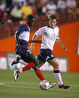 Wasdon Coriolan, left, Bobby Convey, right, USA vs. Haiti, 2004.
