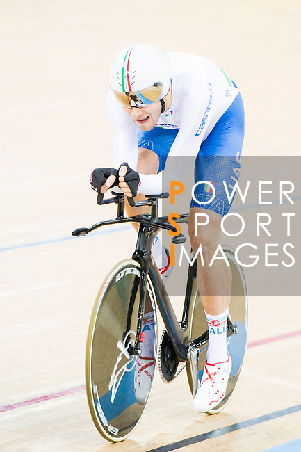 Filippo Ganna of the Italy team competes in the Men's Individual Pursuit - Qualifying as part of the 2017 UCI Track Cycling World Championships on 14 April 2017, in Hong Kong Velodrome, Hong Kong, China. Photo by Marcio Rodrigo Machado / Power Sport Images