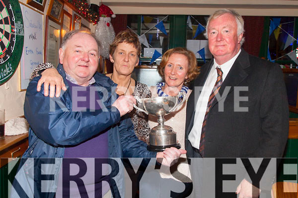 Jack Murphy - Celebrating in Cráineens Bar Cahersiveen after St Mary's Win over Waterville on Saturday were l-r; Christy O'Sullivan, Angela Gilligan, Margaret Daly & John O'Donoghue.