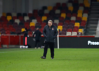 7th November 2020; Brentford Community Stadium, London, England; English Football League Championship Football, Brentford FC versus Middlesbrough; Middlesbrough Manager Neil Warnock looking down onto the pitch in disappointment after full time