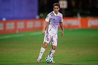 LAKE BUENA VISTA, FL - JULY 20: Mauricio Pereyra #10 of Orlando City SC dribbles the ball during a game between Orlando City SC and Philadelphia Union at Wide World of Sports on July 20, 2020 in Lake Buena Vista, Florida.