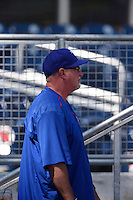 ***Temporary Unedited Reference File***Iowa Cubs pitching coach Rod Nichols (50) during a game against the Nashville Sounds on May 4, 2016 at First Tennessee Park in Nashville, Tennessee.  Iowa defeated Nashville 8-4.  (Mike Janes/Four Seam Images)