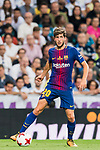 Sergi Roberto Carnicer of FC Barcelona in action during their Supercopa de Espana Final 2nd Leg match between Real Madrid and FC Barcelona at the Estadio Santiago Bernabeu on 16 August 2017 in Madrid, Spain. Photo by Diego Gonzalez Souto / Power Sport Images
