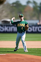 Siena Saints Matt Hamel (6) during practice before a game against the UCF Knights on February 17, 2019 at John Euliano Park in Orlando, Florida.  UCF defeated Siena 7-1.  (Mike Janes/Four Seam Images)