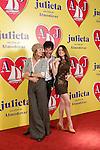 Spanish actors Emma Suarez (l), Daniel Grao (c) and Adriana Ugarte attend the photocall of presentation of the Pedro Almodovar's new film 'Julieta'. April 4, 2016. (ALTERPHOTOS/Acero)