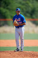 New York Mets pitcher Luis Silva (35) during a Minor League Spring Training intrasquad game on March 29, 2018 at the First Data Field Complex in St. Lucie, Florida.  (Mike Janes/Four Seam Images)