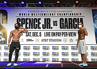 DALLAS, TX - DECEMBER 4: Tyrone Luckey and Frank Martin attend the weigh-in for the Errol Spence Jr. vs Danny Garcia December 5, 2020 Fox Sports PBC Pay-Per-View fight night at AT&T Stadium in Arlington, Texas. (Photo by Frank Micelotta/Fox Sports)
