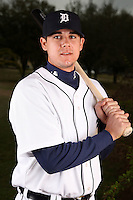 February 27, 2010:  Infielder Larish, Jeff (19) of the Detroit Tigers poses for a photo during media day at Joker Marchant Stadium in Lakeland, FL.  Photo By Mike Janes/Four Seam Images