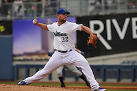 Tulsa Drillers starting pitcher Chris Anderson (32) throws during the game against the Northwest Arkansas Naturals at Oneok Field on May 2, 2016 in Tulsa, Oklahoma.  Northwest Arkansas won 9-6.  (Dennis Hubbard/Four Seam Images)