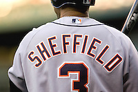 July 5, 2008: The Detroit Tigers' Gary Sheffield waits in the on-deck circle during a game against the Seattle Mariners at Safeco Field in Seattle, Washington.