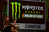 Monster Energy NASCAR Cup Series<br /> Champion's Week and Series Awards<br /> Las Vegas, NV USA<br /> Thursday 30 November 2017<br /> Mitch Covington and Martin Truex Jr, Furniture Row Racing, Bass Pro Shops/TRACKER BOATS Toyota Camry during the Series Awards Show<br /> World Copyright: Nigel Kinrade<br /> LAT Images