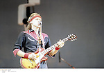 Mark knopfler perfoming with his band Dire Straits in the 1980's<br />© David Plastik<br />Credit all uses<br />Retna UK