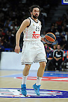 Real Madrid´s Sergio Llull during 2014-15 Euroleague Basketball match between Real Madrid and Zalgiris Kaunas at Palacio de los Deportes stadium in Madrid, Spain. April 10, 2015. (ALTERPHOTOS/Luis Fernandez)