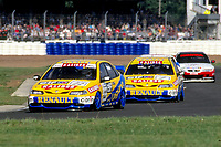 1997 British Touring Car Championship. #22 Jason Plato (GBR) & #2 Alain Menu (SUI). Williams Renault Dealer Racing. Renault Laguna.