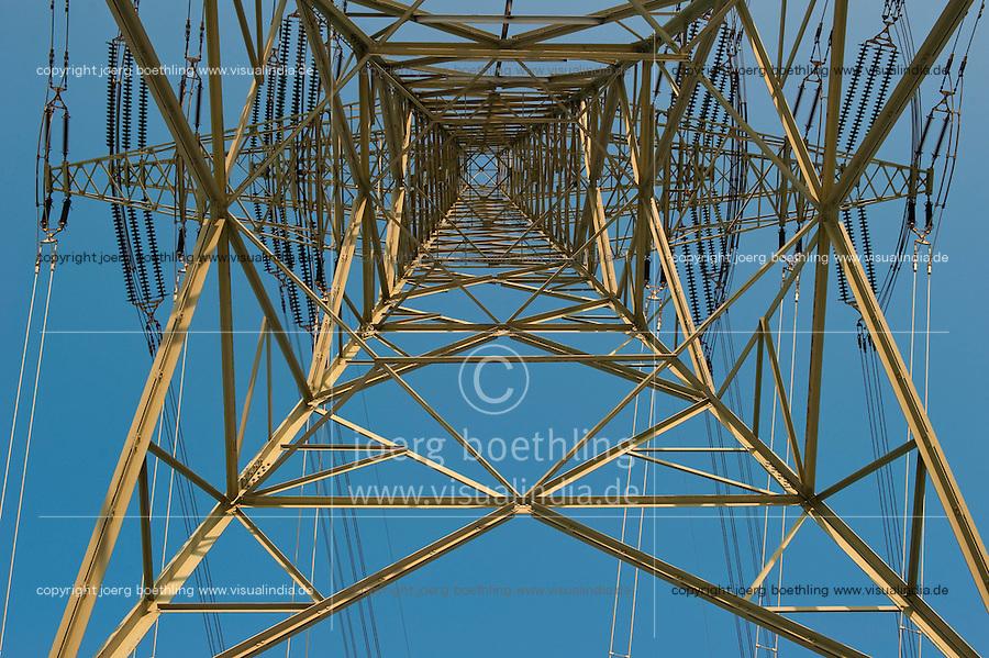 """Europa Deutschland DEU Hochspannungsleitung in Hamburg am Kraftwerk Moorburg. -  Energie   .Europe Germany GER , high voltage steel tower for power supply in Hamburg .  -  energy .  [ copyright (c) Joerg Boethling / agenda , Veroeffentlichung nur gegen Honorar und Belegexemplar an / publication only with royalties and copy to:  agenda PG   Rothestr. 66   Germany D-22765 Hamburg   ph. ++49 40 391 907 14   e-mail: boethling@agenda-fototext.de   www.agenda-fototext.de   Bank: Hamburger Sparkasse  BLZ 200 505 50  Kto. 1281 120 178   IBAN: DE96 2005 0550 1281 1201 78   BIC: """"HASPDEHH"""" ,  WEITERE MOTIVE ZU DIESEM THEMA SIND VORHANDEN!! MORE PICTURES ON THIS SUBJECT AVAILABLE!! ] [#0,26,121#]"""