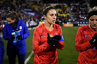 COLUMBUS, OH - NOVEMBER 07: Carli Loyd #10 of the United States walks out onto the field during a game between Sweden and USWNT at MAPFRE Stadium on November 07, 2019 in Columbus, Ohio.