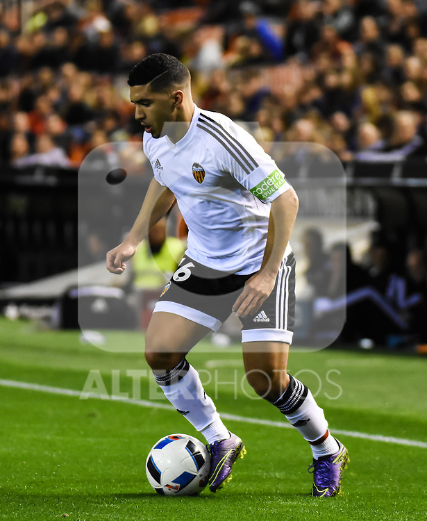 Valencia's    Bakkali   during Spanish King's Cup match. February 10, 2016. (ALTERPHOTOS/Javier Comos)