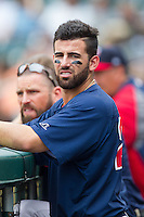 Deven Marrero (29) of the Pawtucket Red Sox during the game against the Charlotte Knights at BB&T Ballpark on August 10, 2014 in Charlotte, North Carolina.  The Red Sox defeated the Knights  6-4.  (Brian Westerholt/Four Seam Images)