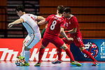 China vs Iran during the AFC Futsal Championship Chinese Taipei 2018 Group Stage match at University of Taipei Gymnasium on 04 February 2018, in Taipei, Taiwan. Photo by Yu Chun Christopher Wong / Power Sport Images