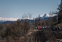 snow on top of the Alps<br /> <br /> 76th Paris-Nice 2018<br /> stage 6: Sisteron > Vence (198km)