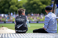 Fans watch day four of the second International Test Cricket match between the New Zealand Black Caps and Pakistan at Hagley Oval in Christchurch, New Zealand on Wednesday, 6 January 2021. Photo: Dave Lintott / lintottphoto.co.nz