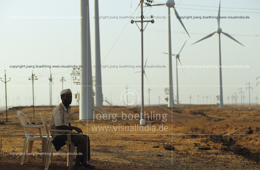 INDIA Maharashtra Sathara , wind turbines Enercon E-40 in wind park Sathara / INDIEN Sathara, Windturbinen Enercon E-40 des deutsch indischen Joint Venture Enercon India Ltd. - MORE IMAGES ON THIS SUBJECT AVAILABLE!!