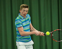 Rotterdam, The Netherlands, March 11, 2016,  TV Victoria, NOJK 12/16 years, Lars Kuipers (NED)<br /> Photo: Tennisimages/Henk Koster