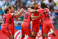 Real Sociedad's players celebrate goal during La Liga match. September 10,2017.  *** Local Caption *** © pixathlon<br /> Contact: +49-40-22 63 02 60 , info@pixathlon.de