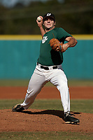 Jordan Marks (33) of the University of South Carolina Upstate Spartans delivers a pitch in an intrasquad scrimmage during fall practice on Saturday, October 3, 2020, at Cleveland S. Harley Park in Spartanburg, South Carolina. (Tom Priddy/Four Seam Images)