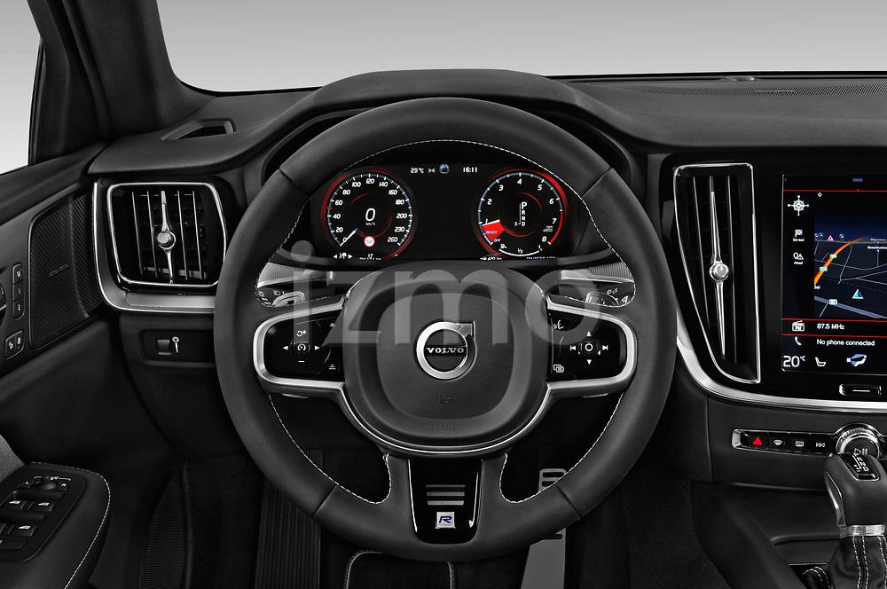 Car pictures of steering wheel view of a 2019 Volvo S60 R-Design 4 Door Sedan