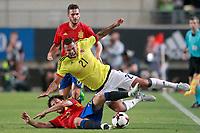 Spain's David Jimenez Silva (l) and Koke Resurreccion (b) and Colombia's Edwin Cardona during international friendly match. June 7,2017.(ALTERPHOTOS/Acero) (NortePhoto.com) (NortePhoto.com)