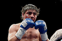 """SAN LUIS POTOSÍ - MÉXICO. 16-11-2013. Aspecto de la pelea entre el colombiano José Carmona y el mexicano Jorge """"travieso"""" Arce ( en la foto) en donde el primero perdió por KO y que le produjo un hematoma por el cual fue intervenido de urgencia e inducido acoma precventivo. La pelea se realizo en San Luis Potosí en México./ Aspecto of the fight between colombian boxer Jose Carmona and Jorge """"Travieso"""" Arce (in the picture) where the first lost by KO and finished with hematoma in the head; he was operated and induced to preventative coma. The fight was made in San Luis Potosi, Mexico Photo: VizzorImage/ Jam Media/CONT"""
