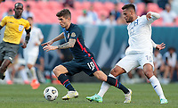 DENVER, CO - JUNE 3: Christian Pulisic #10 of the United States turns with the ball during a game between Honduras and USMNT at EMPOWER FIELD AT MILE HIGH on June 3, 2021 in Denver, Colorado.