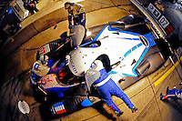 12-15 March 2008, Sebring, Florida, USA.The #07 Peugeot finishes a driver change during night practice..©F.Peirce Williams 2008, USA .