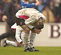 20040508    Copyright Pic: James Stewart.File Name : jspa11_clyde_v_ict.CLYDE'S MARK MCLAUGHLIN IS DISTRAUGHT AT THE FINAL WHISTLE...James Stewart Photo Agency 19 Carronlea Drive, Falkirk. FK2 8DN      Vat Reg No. 607 6932 25.Office     : +44 (0)1324 570906     .Mobile  : +44 (0)7721 416997.Fax         :  +44 (0)1324 570906.E-mail  :  jim@jspa.co.uk.If you require further information then contact Jim Stewart on any of the numbers above.........
